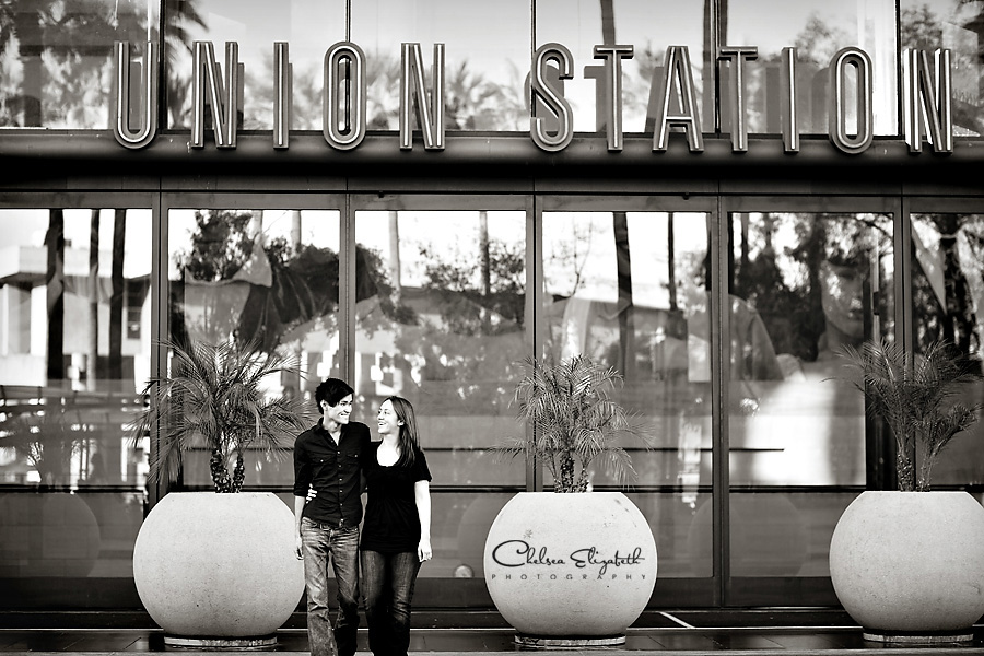 Union station engagment photography