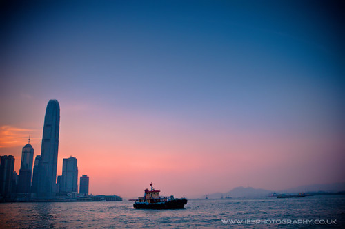 Wanchai Harbour Sunset