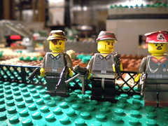 German officers. (crazed Minnesotan) Tags: hat im m1 know wwii rifle bored tags rpg legos sniper americans done helmets germans garand makeing moveout tehe mp40 brickarms