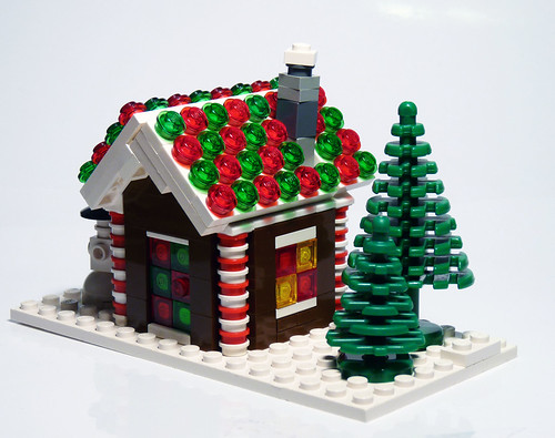 lego gingerbread house instructions