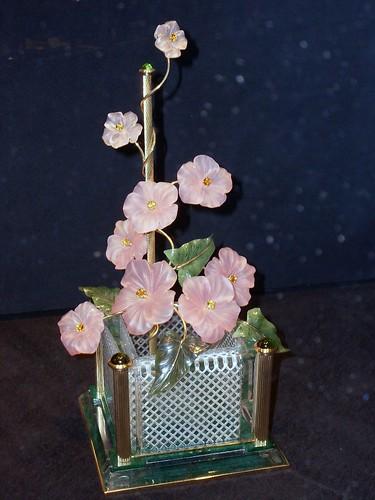 Rosenquarz-Blüten