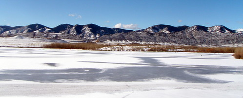 the Frozen Bear Creek Lake