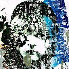 Some days she feels miserable and blue (daliborlev) Tags: cosette portrait girl square urbandecay brno damage damaged mundanedetail lesmisrables tornposter