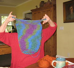 Sue knitting
