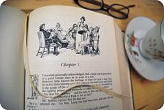 chapter 1 (sevenworlds16) Tags: bird austen vintage reading glasses book jane 365 teacup saucer complete novels prideandprejudice project3661 2009yip 3652009