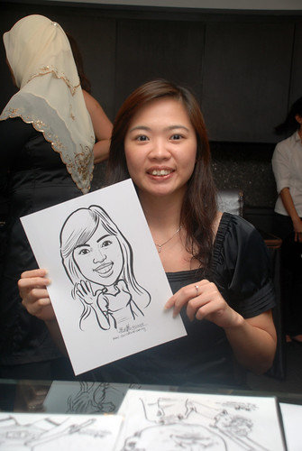 Caricature live sketching for Johnson & Johnson - 8