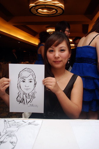 Caricature live sketching for Hock Cheong Printing Pte Ltd D&D 2009 - 4
