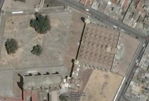 Vista aérea del conjunto de San Gabriel. Cholula.