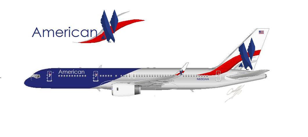 American Airlines New Livery Idea Da C