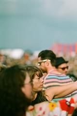 When the sun came out (Ed.ward) Tags: park flowers england people music film festival glastonbury bluesky somerset vista expired glastonburyfestival 2009 nikonf80 expiredfilm pilton agfavista fb:uploaded=true parkstage nikkor85mmf18afd fb:request=true