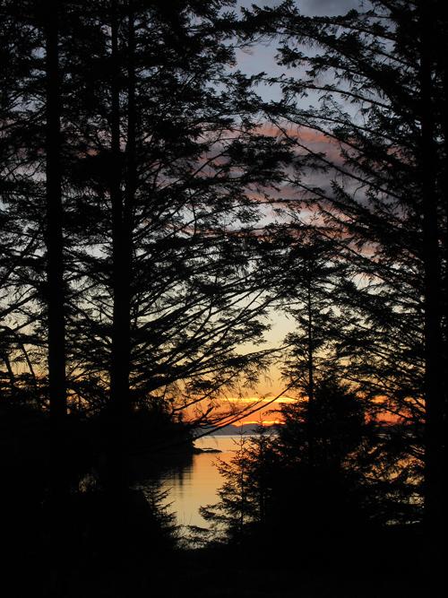 sunrise, Kasaan, Alaska