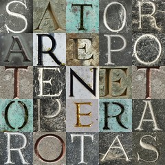 wordsquare (chrisinplymouth) Tags: photomosaic wordsquare letter alphabet latin satorsquare acrostic palindrome mosaic cw69x collage rotassquare paternoster square cw69sq