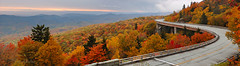Linn Cove Pano (Ben_D) Tags: road bridge autumn panorama mountain fall pano northcarolina viaduct blueridgeparkway grandfathermountain tanawhatrail linncoveviaduct linncove