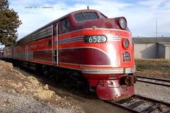 Chicago, Rock Island & Pacific Railroad  No. 652 (E8), Kansas, Baldwin City (4,116c) (EC Leatherberry) Tags: railroad kansas locomotive e8 1952 douglascounty excursiontrain chicagorockislandpacificrr therockisland