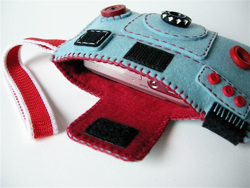 Camera Camera Case 'Holgy' (winter turquoise/rapsberry) by hine.