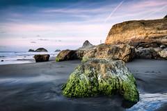 The Rocks of Back Beach #5 (Mark Solly (F-StopNinja)) Tags: sunset chimney beach rock islands sand rocks dusk salt spray sugar trail algae loaf sugarloaf tidal vapour zone taranaki newplymouth sigma1020mm backbeach paritutu nikond90