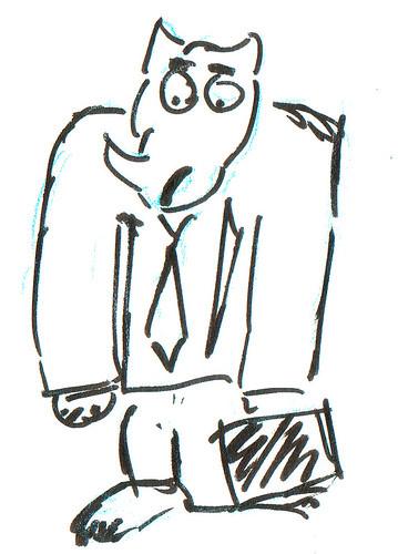 366 Cartoons - 342 - Rhino Businessman