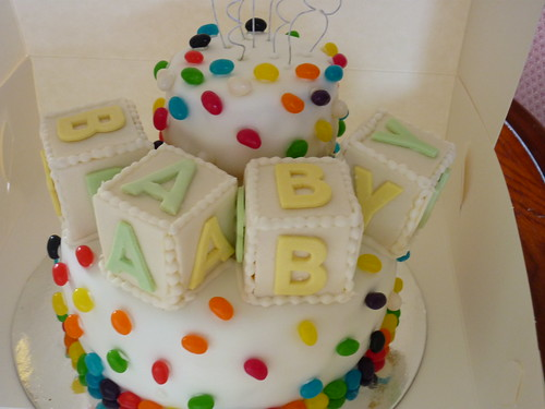 Jelly Bean Themed Baby Shower Cake