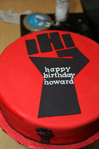 Howard's birthday cake
