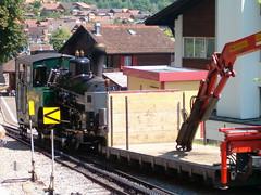 BRB Brienz - Rothorn - Bahn Dampflokomotive H 2/3 Nr. 14 mit Taufname Brienz ( Hersteller SLM Nr. 5689 => Baujahr 1996 => lbefeuert ) bei der Talstation Brienz im Berner Oberland im Kanton Bern der Schweiz (chrchr_75) Tags: mountains alps nature landscape schweiz brienz suisse hiking swiss natur eisenbahn steam berge swizterland bern alpen christoph svizzera bahn landschaft berne schweizer wandern vapor brb locomotora 0507 berna dampflok dampflokomotive wanderung wanderweg rothorn suissa zahnradbahn dampfmaschine brnig vapeur stoomlocomotief  kanton chrigu vapore  bahnen kantonbern brn brienzer chrchr brnigpass hurni chrchr75 chriguhurni albumbahnenderschweiz albumbrienzerrothorn2007 albumdampflokomotiveninderschweiz chriguhurnibluemailch albumbahnbrbbrienzrothornbahn albumzahnradbahnenschweiz hurni050714