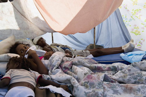 Survivors of Haiti Quake Rest in Makeshift Shelter. Photo: United Nations Photo, flickr
