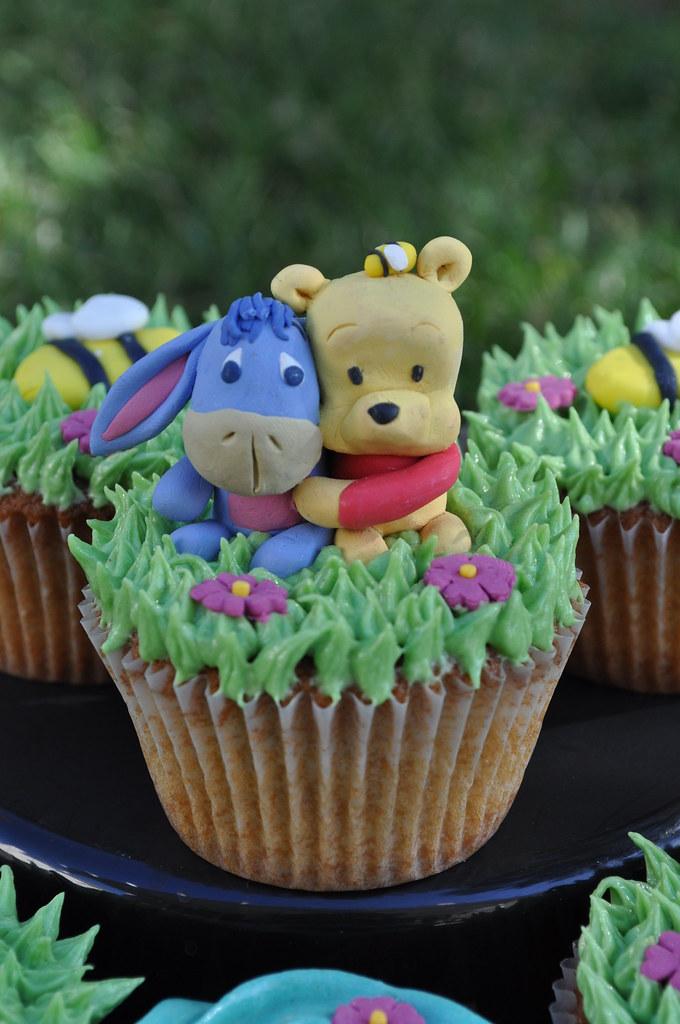 PB and J Pooh Bear Cupcakes