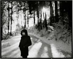 . (sechsmalsechs.blogspot.com) Tags: winter portrait snow cold film beauty analog darkroom print wooden pentax freezing 200iso 6x7 lovely 67 doityourself fomapan fixedshadows