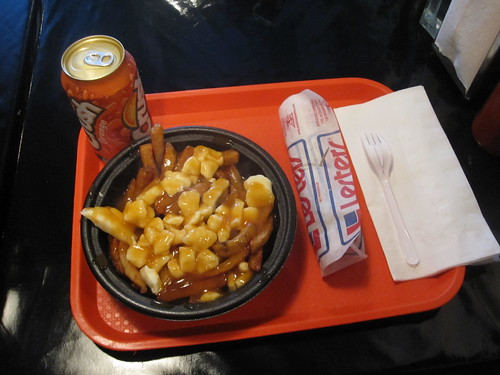 Poutine, steamer, Orange Crush from McGill Hot-dog - $8