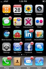 iPhone homescreen with a lot of notifications