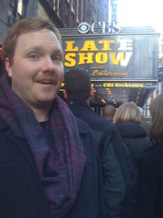 Mike in line (PeteyIsCuterThanHerb) Tags: nyc newyork mike lateshowwithdavidletterman edsullivantheater mcdevitt mikemcdevitt