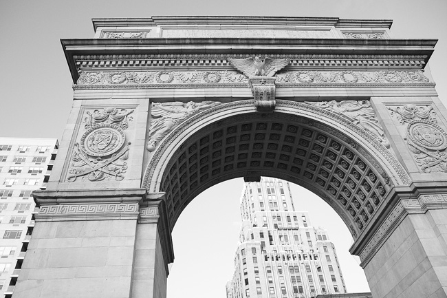 The Arch, in Washington Square Park