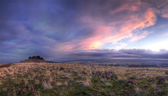 Kelsey (Philerooski) Tags: pink sunset sky panorama house mountain storm clouds painting landscape washington moss rocks glow desert path top infinity pano horizon hill hike farmland winery trail wa farms viewpoint mossy hdr highdynamicrange foreground kennewick tricities easternwashington 3xp thompsonhill 360winery