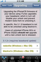 Only upgrade with current jailbreak software f...