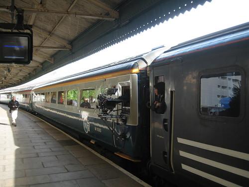 Ar y Tracs - charter train as TV location