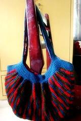 SouthAsianCrafters Swap - Crochet bag (iamin_chennai) Tags: bag blog crochet gift swap chennai 2009 handdyedyarn ravelry madartist southasiancrafters cottontapestitchmarkers merryamethyst