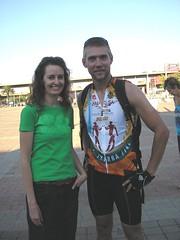 Telana and Ruan (who's wearing one of the Explore SA cycling shirts)