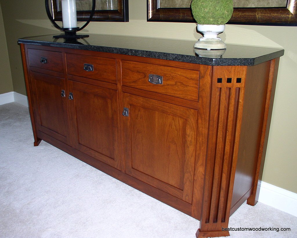 Custom Cherry Buffet (Stickley-Inspired) View 1.
