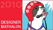 Ravelympics badge: Designer Biathlon