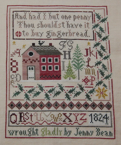 Jenny Bean's Christmas Sampler Finished!!
