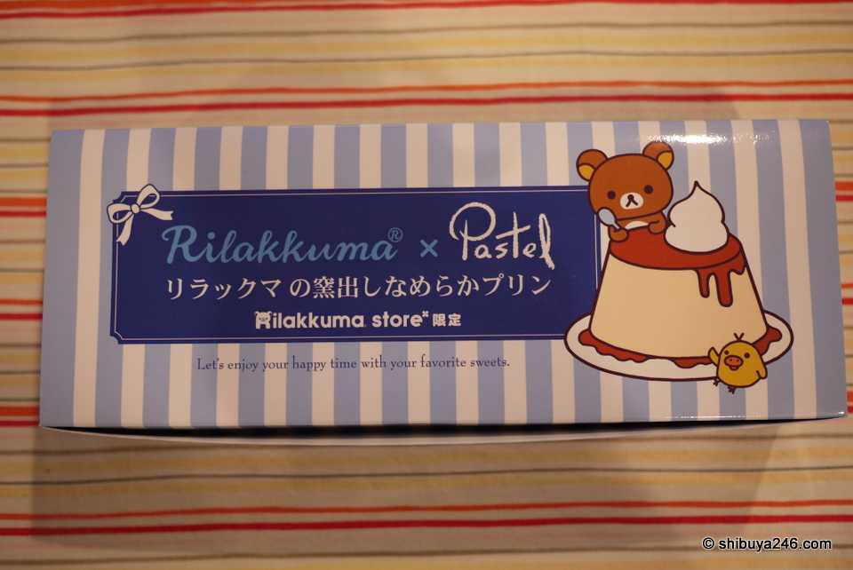 The Rilakkuma Pastel Pudding set from the Rilakkuma Tokyo Station Store.