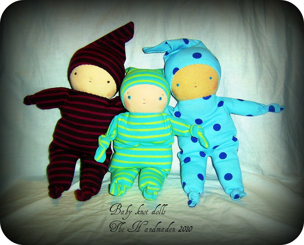 baby knot doll trio