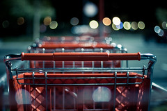 Late night shopping (KayVee.INC) Tags: sf california ca red usa shop shopping bokeh trolley target albany shoppingtrolley eastbay 2010 stupidcamera ligts cavey kayvee feelsicknow kayveeinc twittographers mademeeatbacon