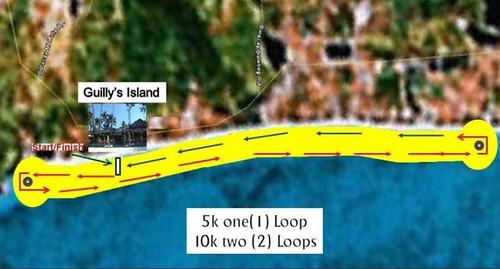 skyathon race map, boracay fun run 2010