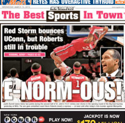NY Post cover E-Norm-Ous