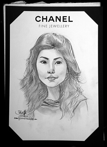 Portrait live sketching for Chanel Fine Jewellery Exhibition Day 3 - 2
