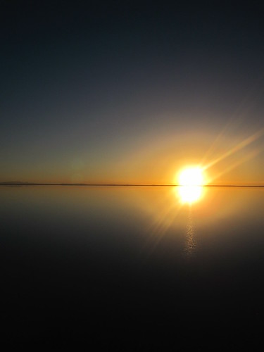 Sun rise on the Salt Flats