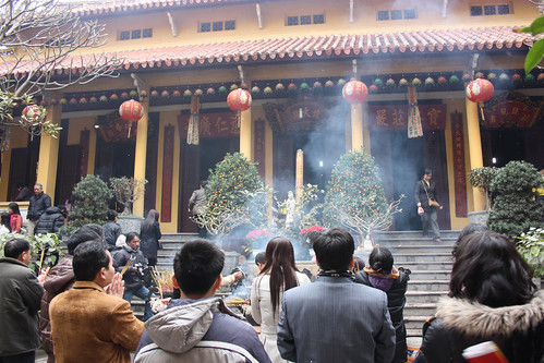 Temple at Chinese New Year