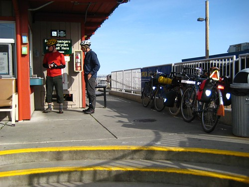 Paying at the Ferry. Photo by Andre.