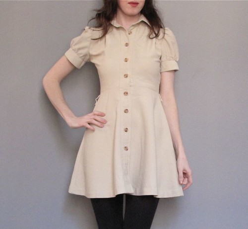 vintage corduroy mini dress