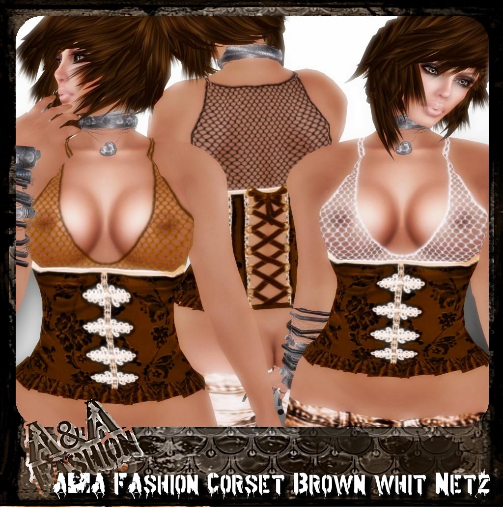 A&A FAshion Corset whit Netz brown